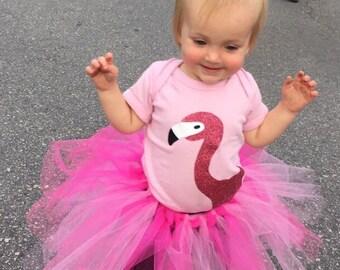 Pink Flamingo Bodysuit or t-shirt
