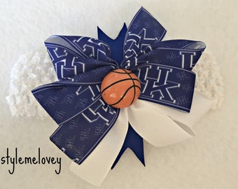 Kentucky Wildcats Baby Girl Boutique Bow Crocheted Headband