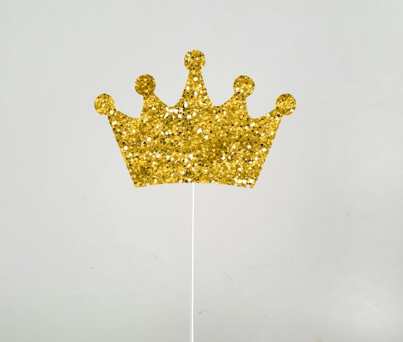 Gold Crown Cake Topper Gold Crown Centerpiece Stick Prince