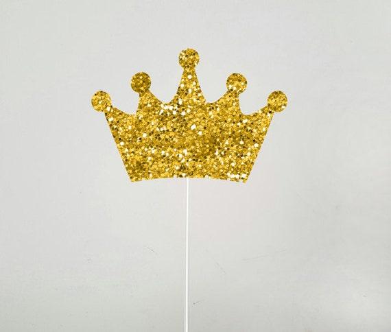Gold Princess Tiara Cake Topper
