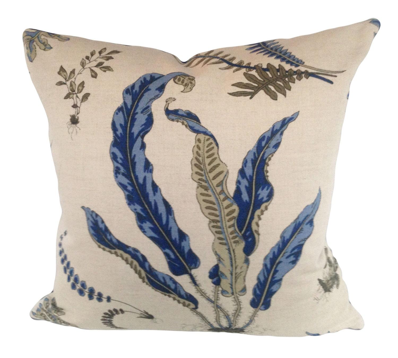 Decorative Pillows Indigo : Indigo Floral Decorative Pillow Cover Throw Pillow Solid
