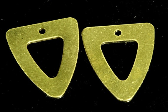 250 pcs 13.5x15.5 mm raw brass triangle tag 1 hole raw brass connector charms ,raw brass findings 1331R