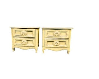 CUSTOM FRENCH PROVINCIAL Nightstands, Antique (circa 1950s)