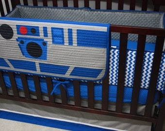 Star Wars Baby Bedding--R2-D2--Custom Crib Bedding--With OR Without Bumpers-MTO