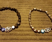 Men's Hamsa evil eye bracelet