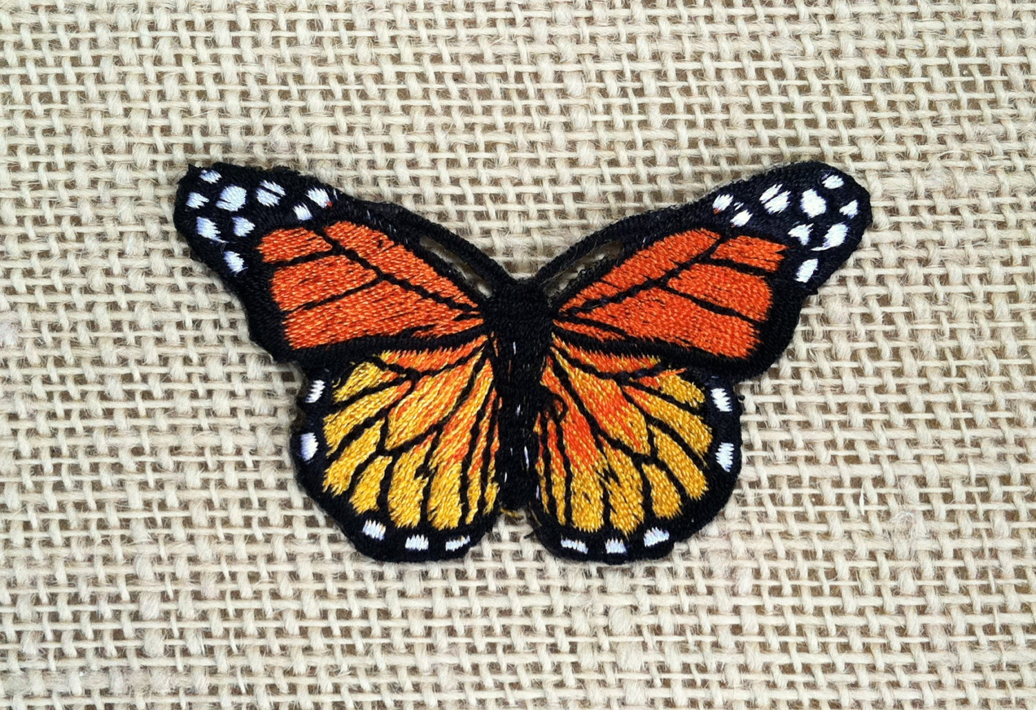 Patches butterfly patch embroidered decal bright