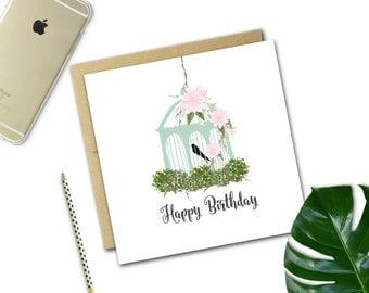 Birthday Mini Card {Birdcage}