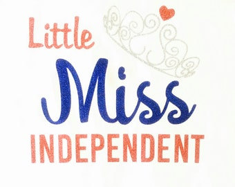Little Miss 4th of July Baby Bodysuit, 4th of July Baby Bodysuit, Little Miss Independent
