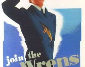 Wartime Wrens Recruitment Poster A3 reprint