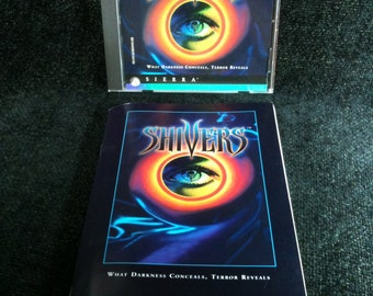 Vintage 1995 Shivers Computer Game, Vintage PC Game, Windows, Video Game, Vintage Computer Game, Sierra Shivers PC Game