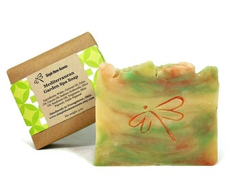 Mediterranean Garden Spa Soap, Handmade Soap, Vegan Soap, Gift under 10