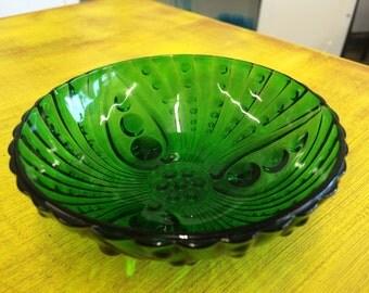Vintage Bubble Glass Bowl