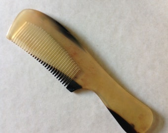 Organic Oxhorn Comb Fine Tooth Long Handle F2 Antistatic Comb By UB's Beard Basics
