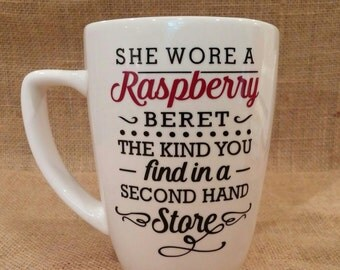 Raspberry Beret Coffee Mug-Song Lyric