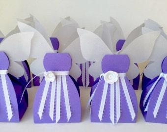 Fairy Favor Fairy Favor Box Fairy Birthday Fairy Boxes Fairy Party Purple Fairy Favors Purple Fairy Decorations 9 Included