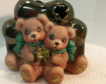 Irish Cuddle Bears Candle Cup