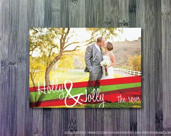 Holly & Jolly Holiday Photo Greeting Card (HC7)
