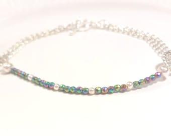 Hematite bracelet, Stacking bracelet, Silver bracelet, Minimalist bracelet, Gemstone bracelet, Boho bracelet, Magnetic bracelet