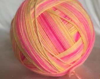 Sunrise gradient self striping sock