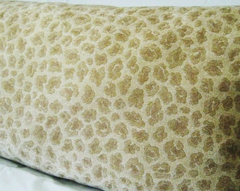Gold Leopard Chenille, Soft Body Pillow Cover