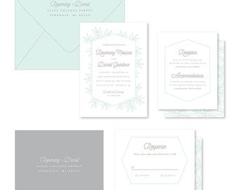 Wedding Invitation Suite Sample - Snowfall