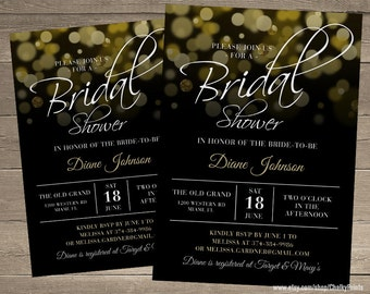 Bridal Shower Invitation, Wedding Shower Invitation, Printable Shower Invitations
