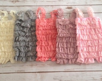 Lace Petti Romper- Lace Romper- Baby Romper- Toddler Romper-Baby Girl Outfit- 1st Birthday Outfit- Weddings- Romper
