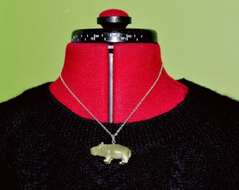 Hippopotamus Necklace