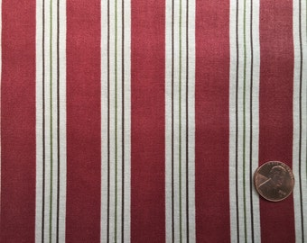 Cotton Blossoms by Bonnie and Camille for Moda -  Half Yard - Brick Stripe - 55007-21