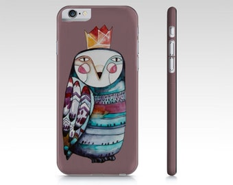 Phone Case, smart phone, OWL, illustration by Kim Durocher, hard shell, for Iphone and Samsung Galaxy