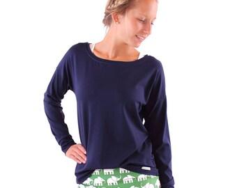 casual shirt 'Helen' / / Navy Blue viscose Jersey