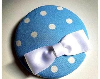 "headpiece, fascinator, little hat ""polkadots"" azure, skye-blue!"