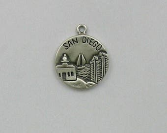 Sterling Silver San Diego, America's Finest City Charm