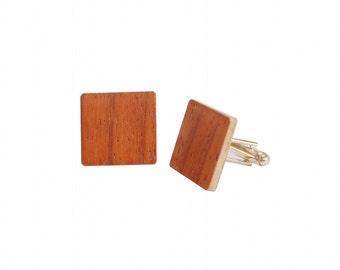 Wooden Cufflinks Padouk