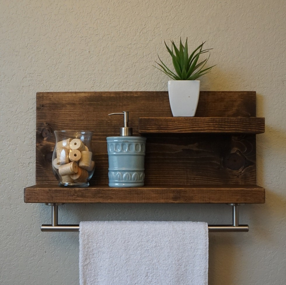 bathroom shelves with towel bar | My Web Value