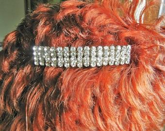 Vintage French Rhinestone Hair Barrette, French Rhinestone Hair Barrette, Rhinestone Hair Barrette France, vintage Rhinestone Hair Barrette