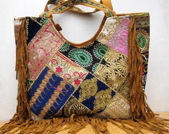 Handbag  / banjara  bag/colorful bag / shoulder bag/ brown bag/ fashion bag /tribal bag/ embroiderd bag/ gift item.