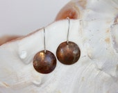 Rustic Hammered Copper Earrings