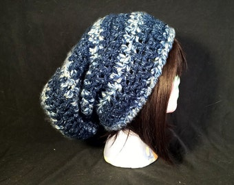 Crocheted Simple Slouchy Beanie