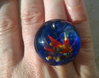 Polymer clay and resin ring