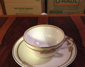 Limoge Tea Cup Saucer Set
