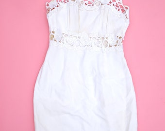 80s White Mini Dress