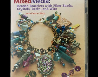 Mixed Media: Bead Bracelet with Fiber Beads, Crystal, Resin and Wire - DVD (VT3016)