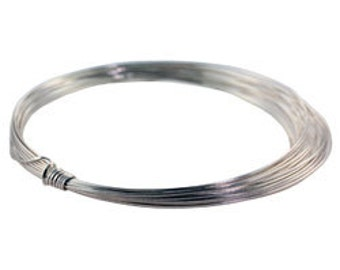 Craft Wire 1/2 Round Silver Plated 21ga 4yd Spool (WR6121S)