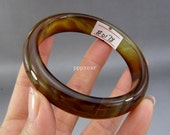 100% Natural Fashion Fine Beautiful Agate Bangle Bracelet,women bracelet,Female bracelet,  60mm #0178