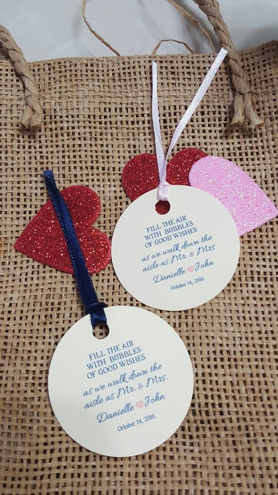 Personalized Wedding Gift Tag Stickers : Personalized Favor Tags 2