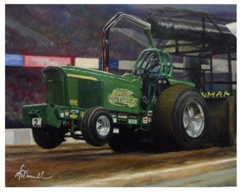 Custom Tractor Pulling Painting