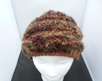 One of a Kind Wool Boucle Knit Beanie