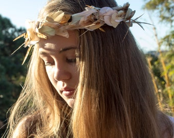 Bridal Feather Crown, Made to order