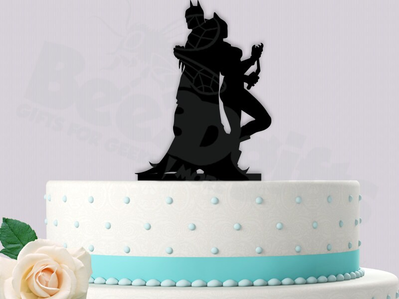 wonder woman wedding cake batman and cake topper by bee3dgifts on etsy 27587